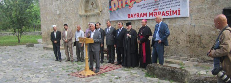 Сегодня состоялось праздничное мероприятие, посвященное 1700 летию принятия христианства как государственной религии в Кавказской Албании и 10 лет со дня регистрации Албано-Удинской христианской общины Азербайджанской Республики.