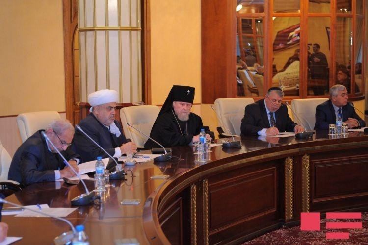 Главы религиозных конфессий Азербайджана поддержали кандидатуру Президента Ильхама Алиева