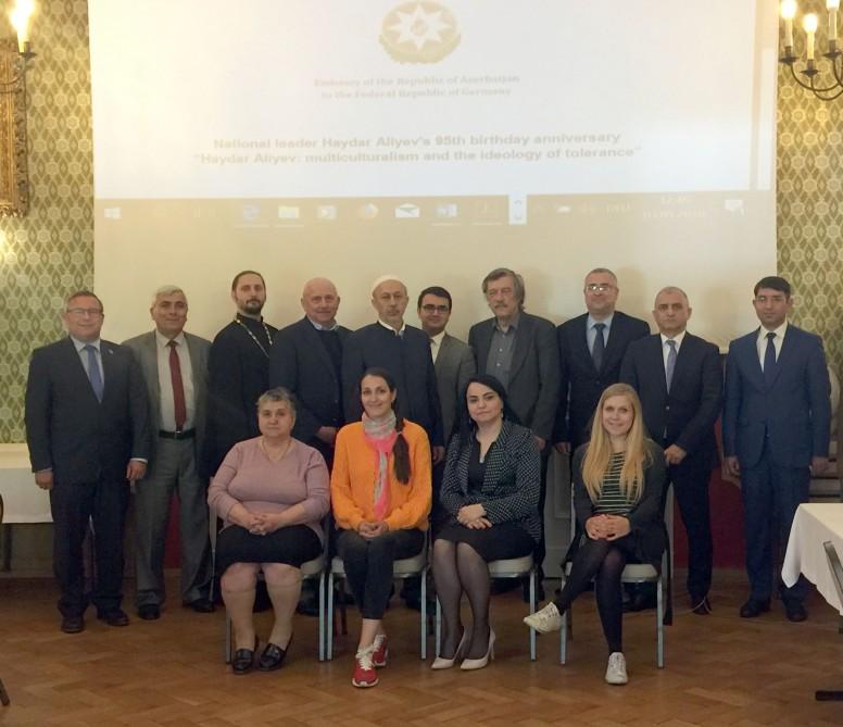 Almaniyada keçirilən konfransda Azərbaycan multikulturalizmi yüksək qiymətləndirilib