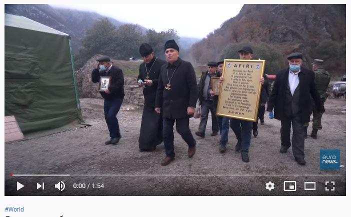 Совместное богослужение в карабахском монастыре . Euronews.