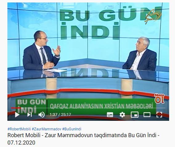 Robert Mobili — Zaur Məmmədovun təqdimatında Bu Gün İndi — 07.12.2020