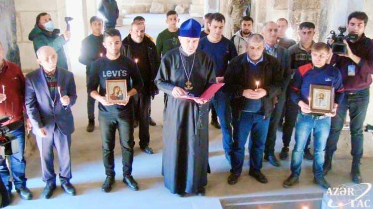 Члены Албано-удинской христианской общины Азербайджана посетили монастырь «Агоглан» в Лачине
