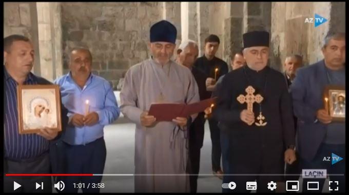 Начался очередной визит представителей Албано-удинской религиозной общины в Лачин